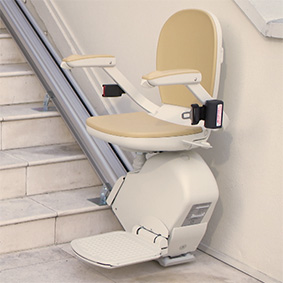 Phoenix electric stairlifts motorized stairchair indoor outdoor exterior curved stair lifts
