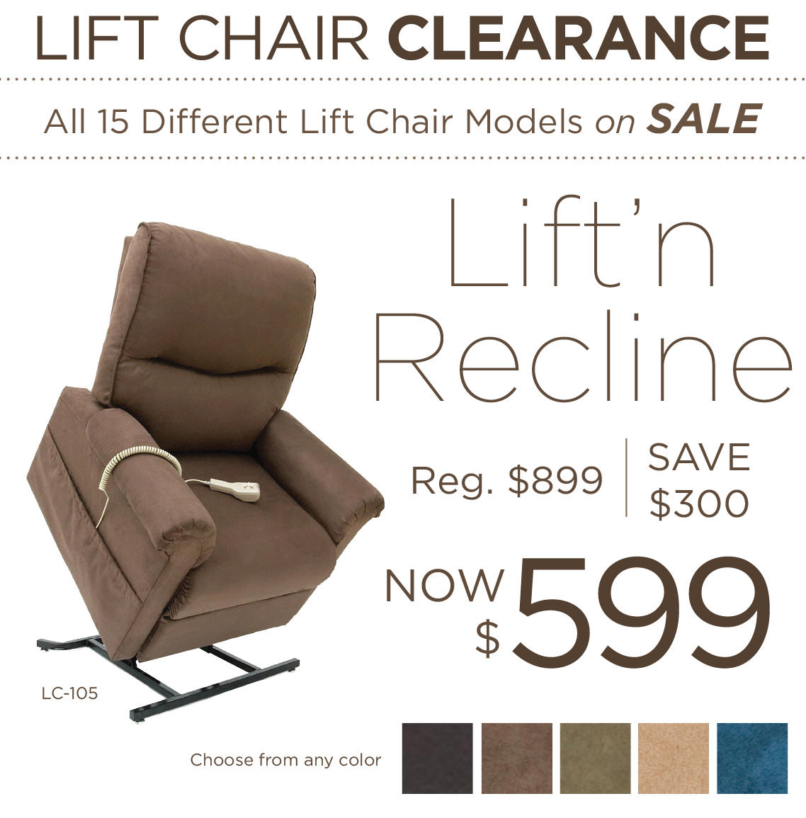 los angeles lift chair sale price cost